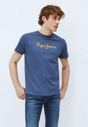EGGO - Print T-shirt - marine blau