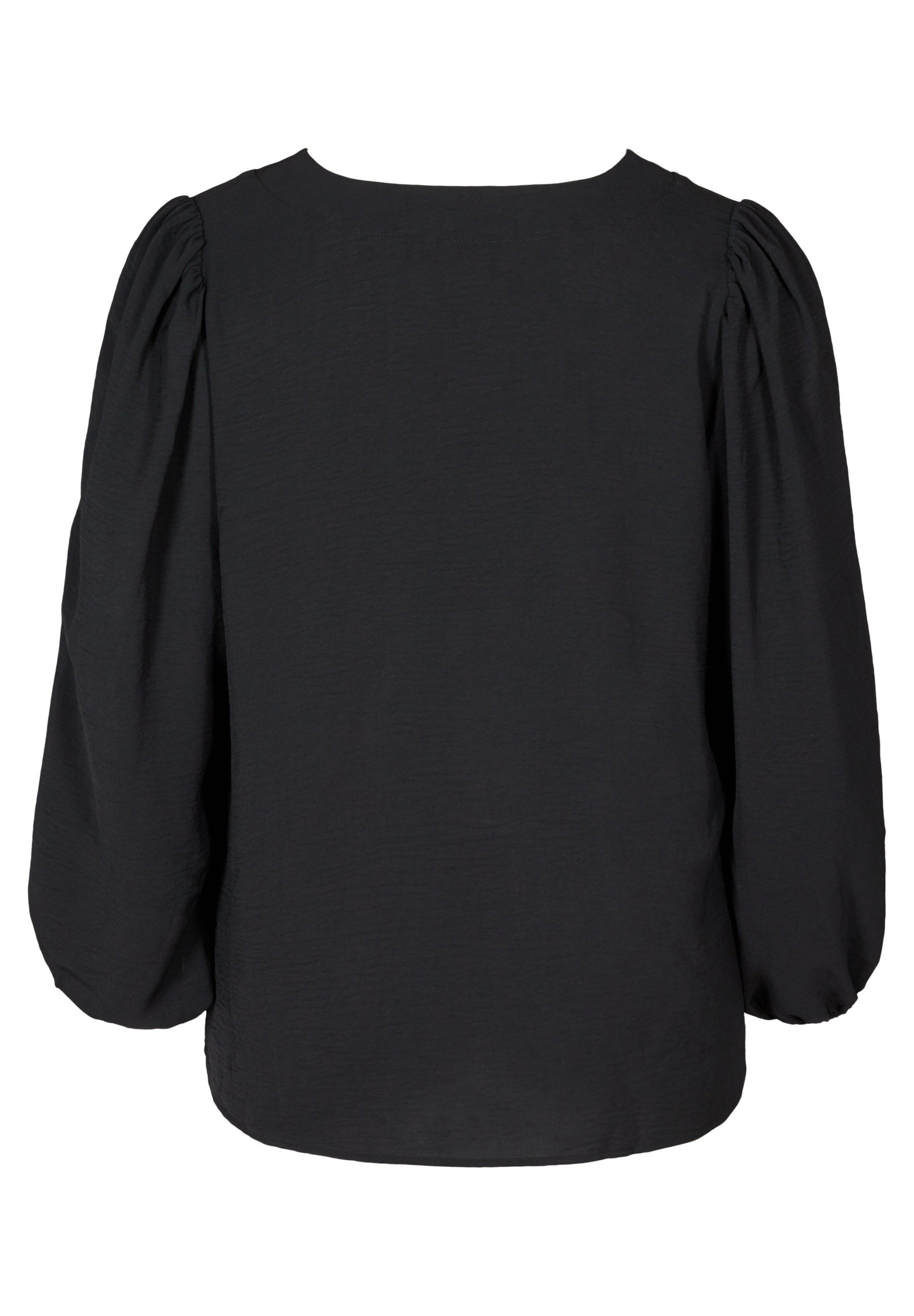 Zizzi WITH PUFF SLEEVES - Blouse - black - Tops & T-shirts Femme OvNoe