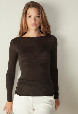 AUSSCHNITT - Undershirt - coffee brown