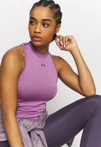 Under Armour - RUSH SEAMLESS CROP - Top - polaris purple - 3