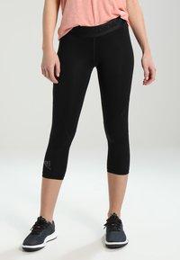 adidas Performance - 3/4 sports trousers - black - 0
