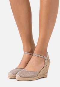 Unisa - CASTILLA - Platform sandals - taupe - 0