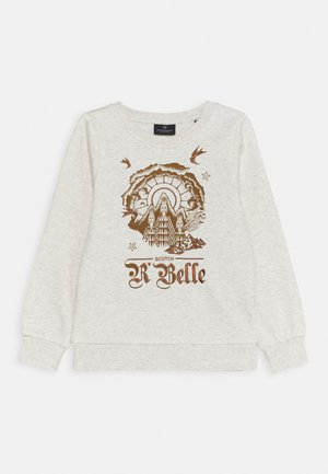 BASIC CREW NECK WITH VARIOUS ARTWORKS - Sweatshirt - ecru melange