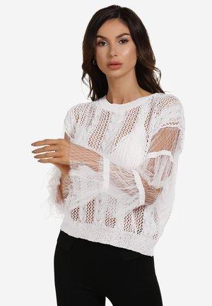 Jumper - woolen white
