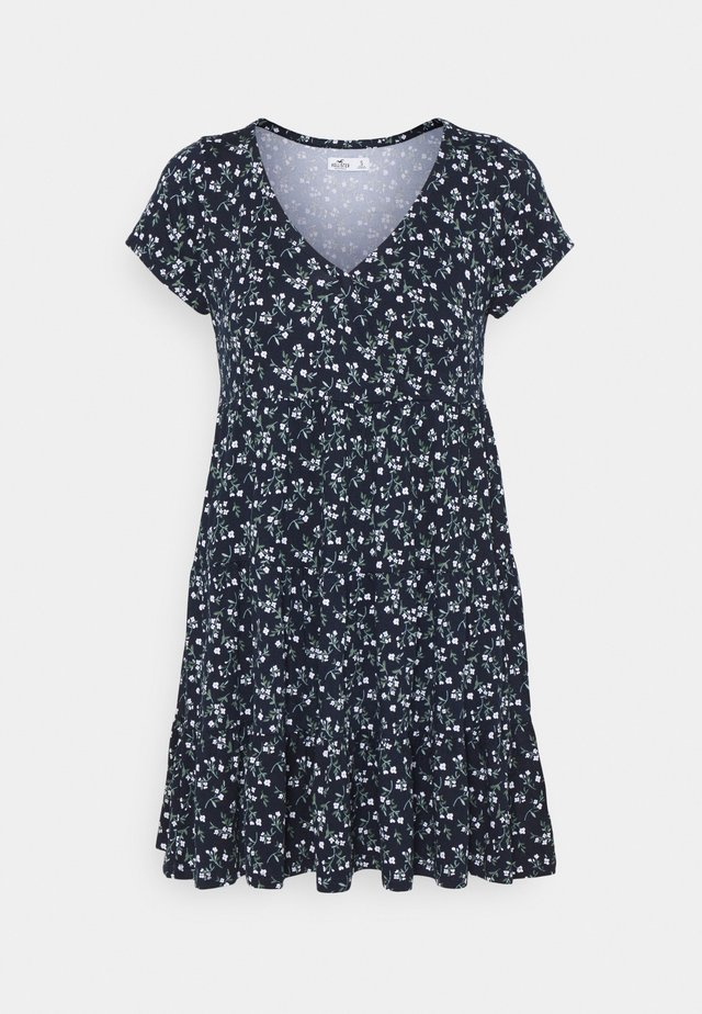 SHORT DRESS - Robe en jersey - navy