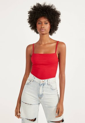 GLATTER TRÄGER-BODY - Top - red