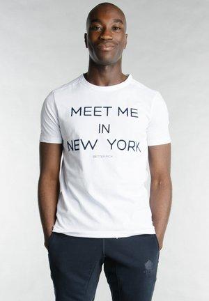 Print T-shirt - 2000 white
