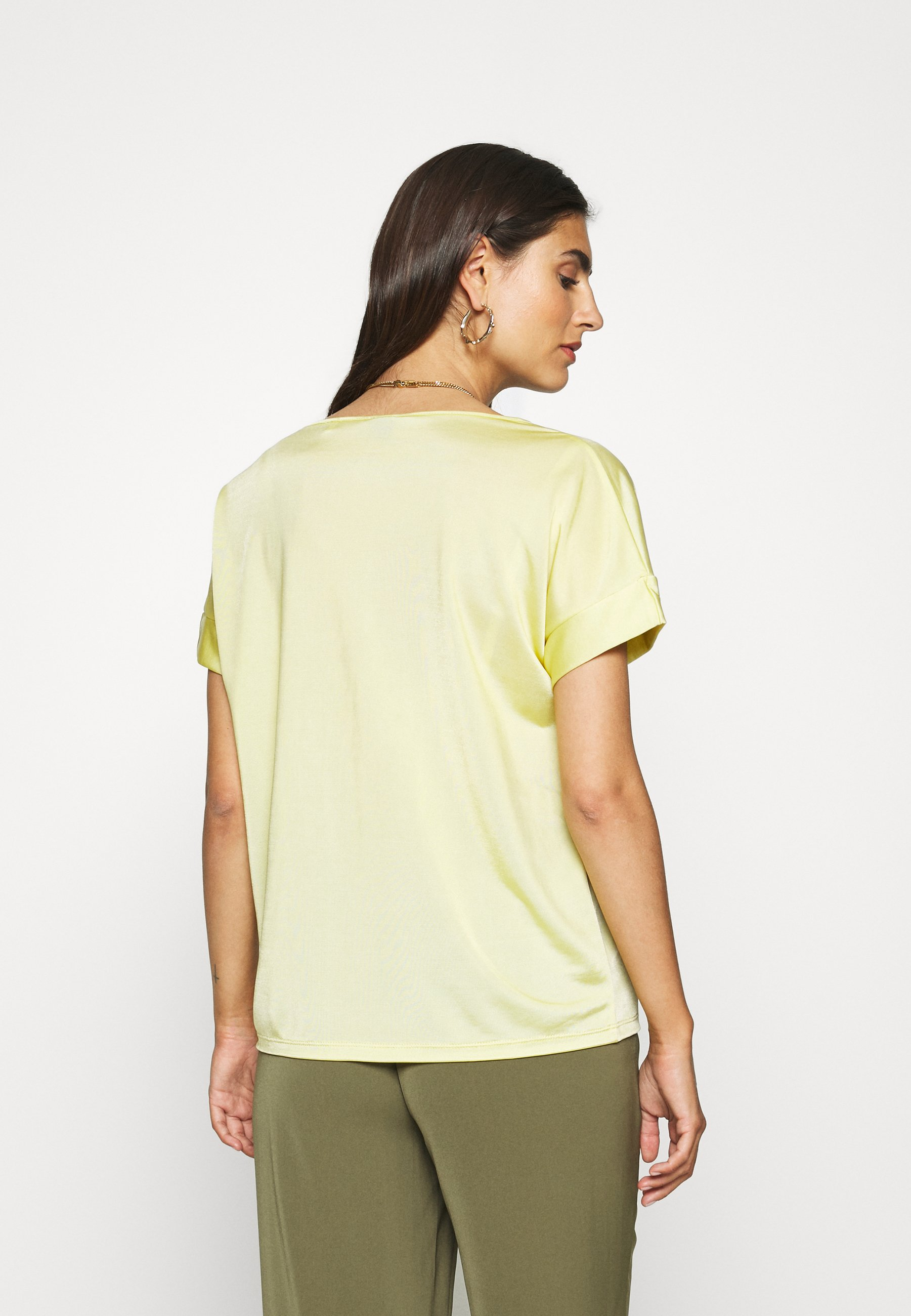 S.oliver Black Label T-shirts Med Print - Sorbet Yellow/lysegul