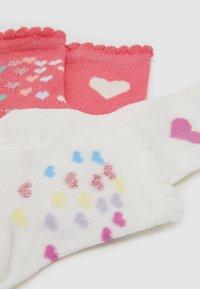 Ewers - BABY HEARTS 4 PACK - Sokken - pink/creme - 1