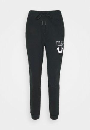 PANT TRUE LOGO PUFFY  - Pantalon de survêtement - black