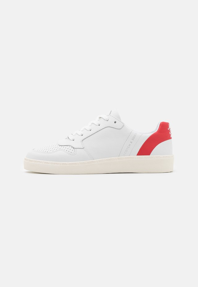 LAURITE - Sneakers laag - white/red