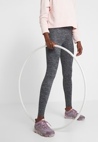 Nike Performance - ONE LUXE - Tights - black/clear - 0