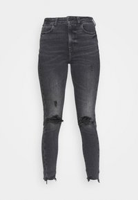 American Eagle - HIGHEST RISE JEGGING - Jeggings - black in the dayz - 3