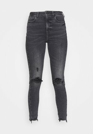 HIGHEST RISE JEGGING - Džegíny - black in the dayz