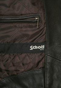 Schott - Leather jacket - dark brown - 6