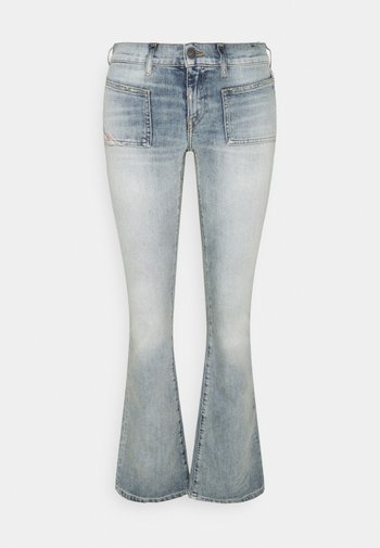 D-EBBEY-X - Flared Jeans - bleached blue