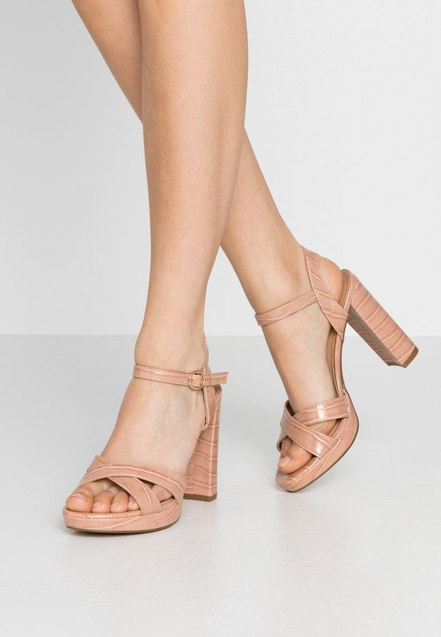 SAUCY PLATFORM  - High heeled sandals - nude