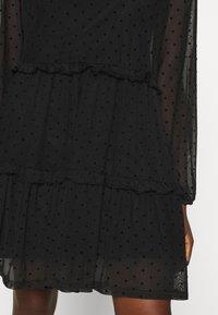 Even&Odd - DOBBY MESH LONG SLEEVES LOOSE FIT MINI DRESS - Kjole - black - 5