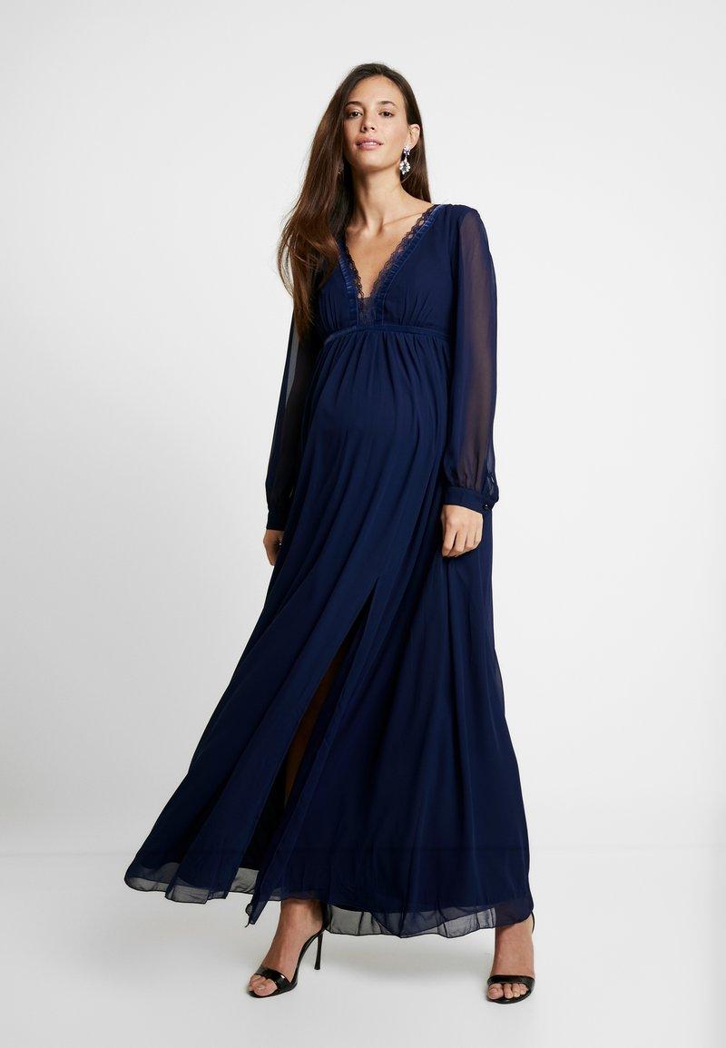 Little Mistress Maternity - TRIM MAXI DRESS - Maxi dress - navy