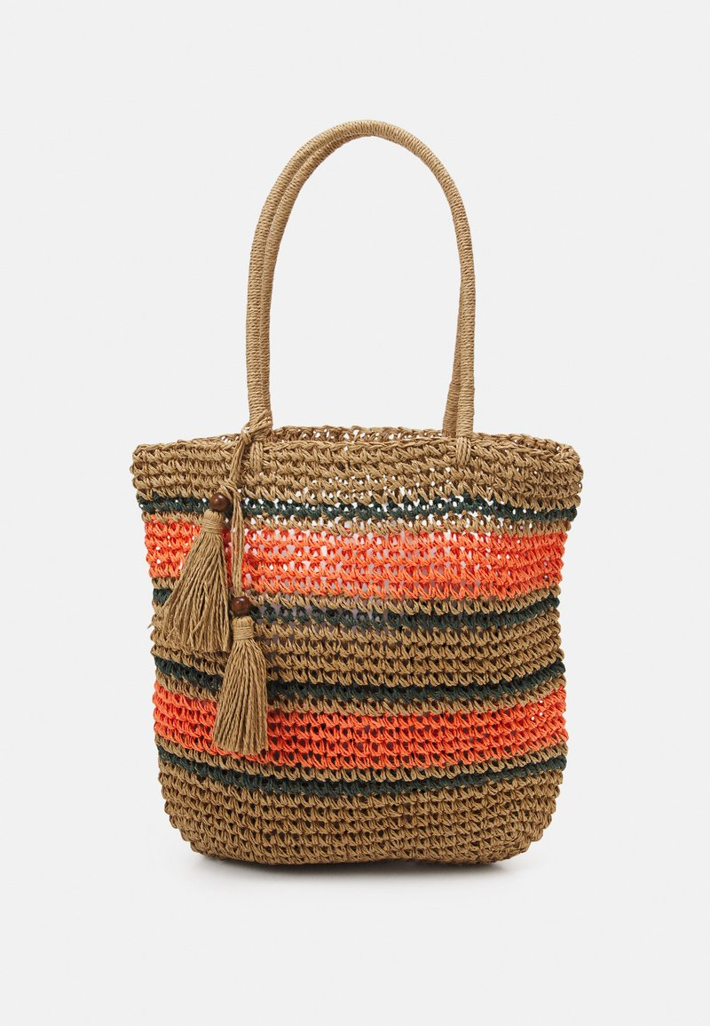 Pieces - PCLEONA SHOPPER - Tote bag - coral