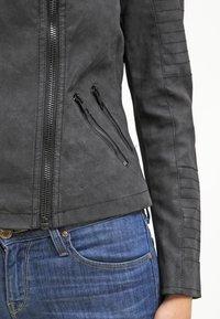 ONLY - ONLAVA BIKER  - Faux leather jacket - black - 5