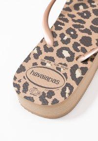 Havaianas - SLIM FIT FLATFORM ANIMALS - Pool shoes - steel grey - 3