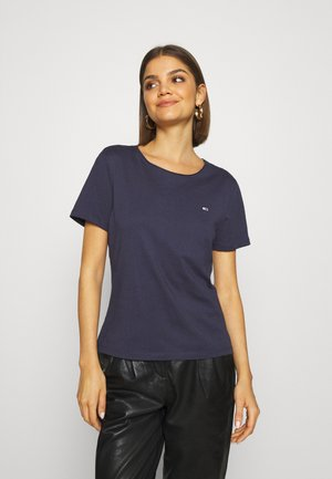 SLIM CNECK - Basic T-shirt - blue