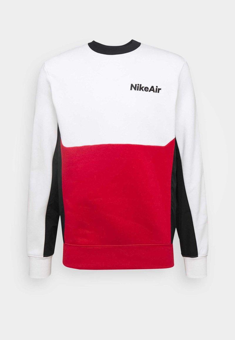 Nike Sportswear - AIR CREW - Sweatshirt - white/university red/black