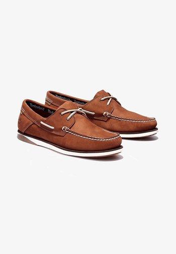 Boat shoes - garnet