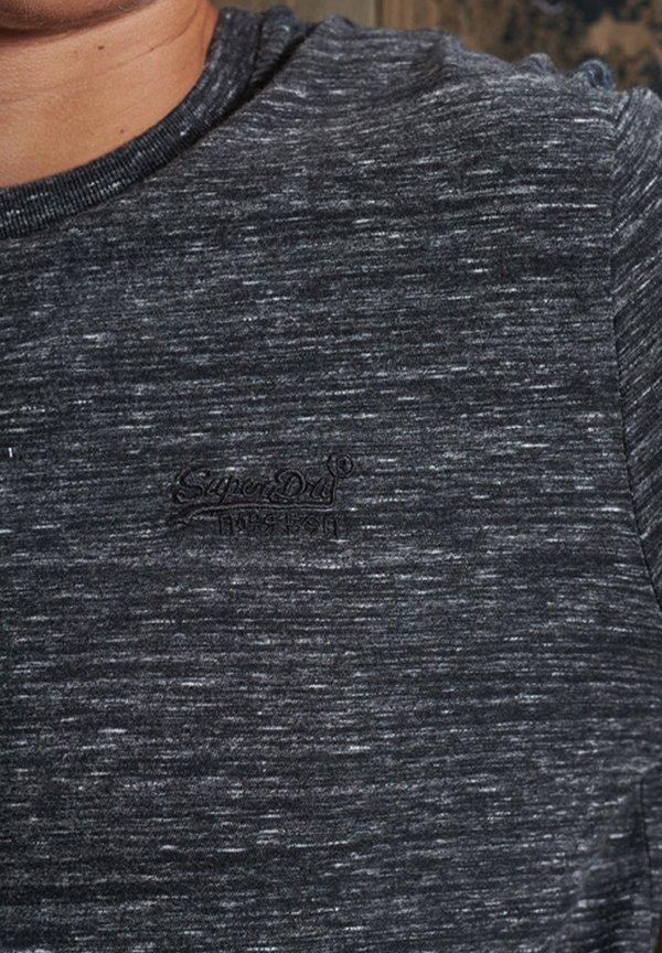 Superdry VINTAGE EMB LS - Bluzka z długim rękawem - winter black space dye/czarny Odzież Męska LRDY