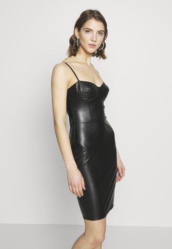 BUSTIER DRESS - Cocktailklänning - black