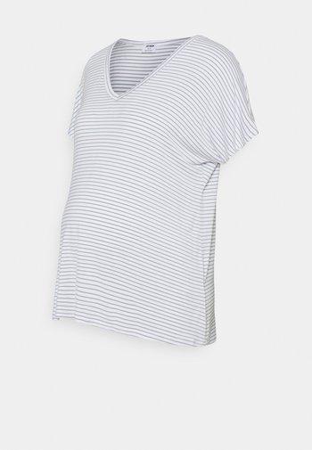 MATERNITY EVERYDAY KARLY SHORT SLEEVE - T-shirt basic - white/chinois green