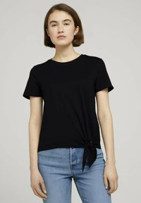 TOM TAILOR DENIM - Print T-shirt - deep black - 0