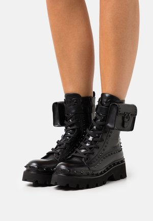 SALVADOR STIVALE LISCIO - Platform ankle boots - black