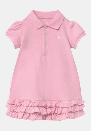 SOLID RUFFLE SET - Vestito di maglina - carmel pink