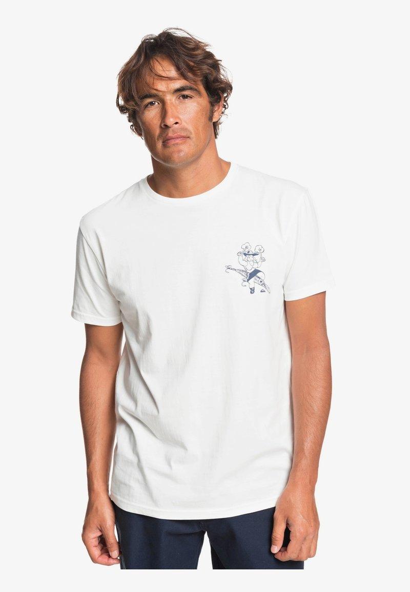 Quiksilver - T-shirt print - snow white