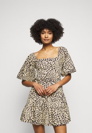 ERYN MINI DRESS - Denní šaty - beige
