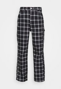 Topshop - CHECK CARPENTER - Trousers - navy - 4