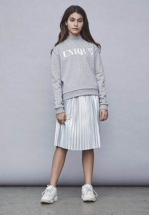LMTD ROCK SILBERFARBENER PLISSEE - Pleated skirt - silver