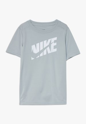 Print T-shirt - light smoke grey/white
