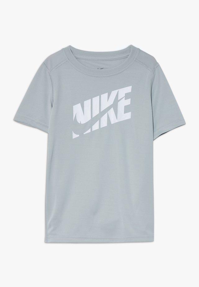 T-Shirt print - light smoke grey/white