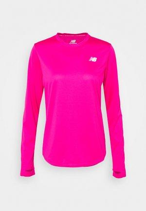 ACCELERATE LONG SLEEVE - Funkční triko - pink glo