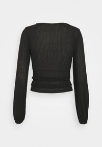 Nly by Nelly - SHEER TIE - Long sleeved top - black - 1