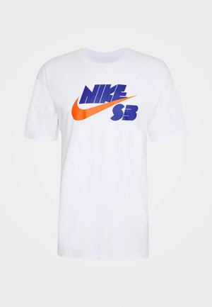 TEE LOGO UNISEX - T-shirt z nadrukiem - white
