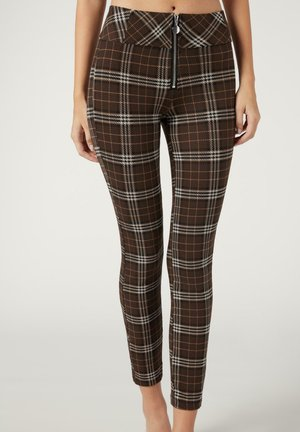 Leggings - Trousers - braun  brown tartan
