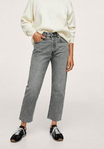 Straight leg jeans - gris denim