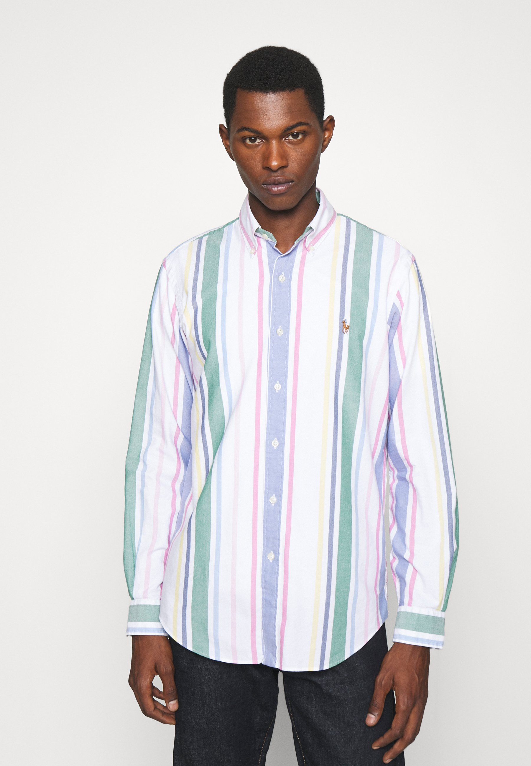 Homme CUSTOM FIT STRIPED OXFORD SHIRT - Chemise