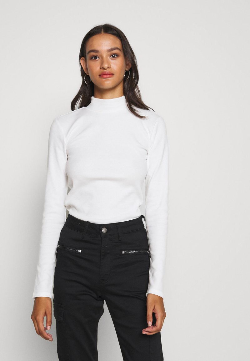 Nly by Nelly - OPEN BACK - T-shirt à manches longues - white