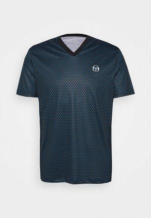 COURT V-NECK TEE - T-shirt print - blue