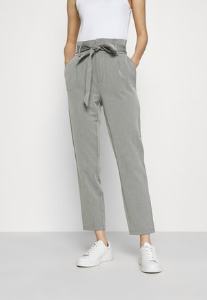ONLLONZO PAPERBAG BELT PANT - Trousers - black